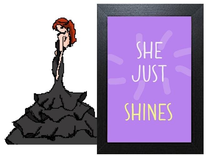 Inspirational Wall Art WA21 - She Shines Lilac