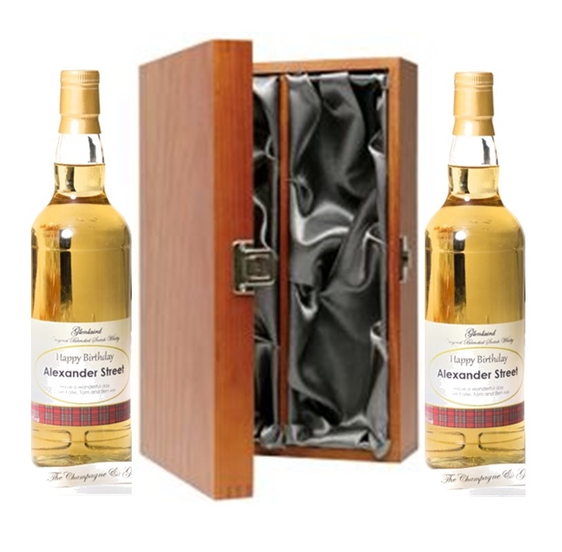 Duo Of Personalised Blended Speyside Scotch Whisky - Presented In...