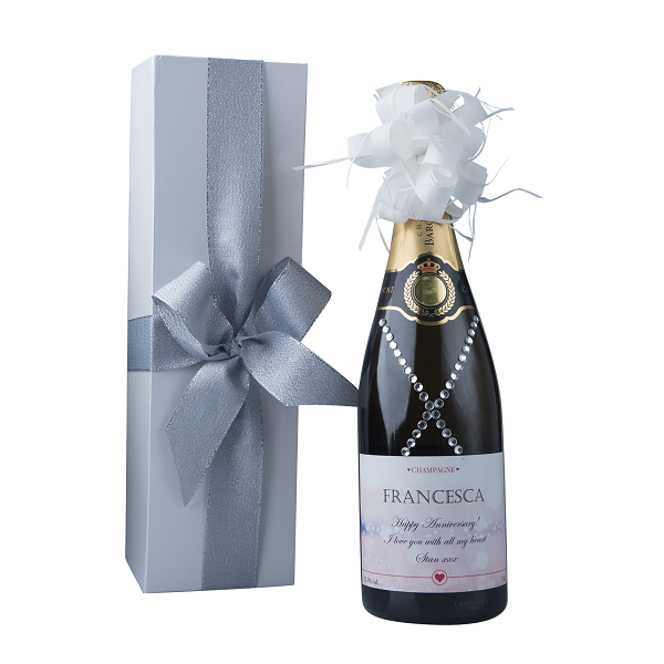 """""""Dazzling"""" Gift Set - Personalised Champagne With Crystal Gems"""