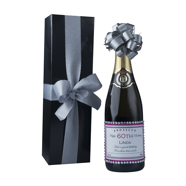 """Dash Of Glam"" Classique Gift Set -  Personalised Prosecco With..."