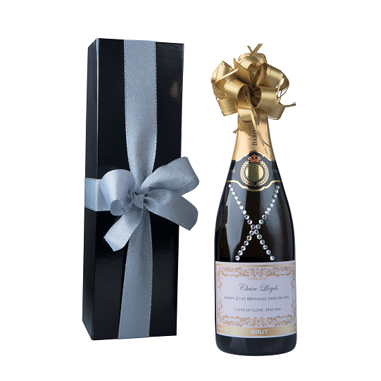 """""""Dazzling"""" Classique Gift Set -  Personalised Champagne With..."""