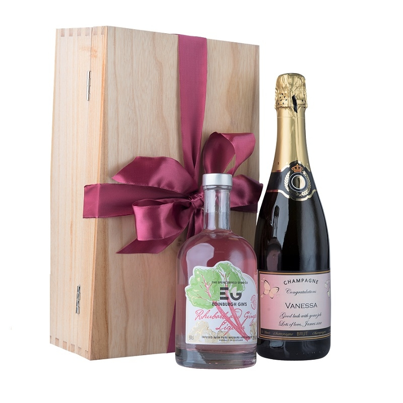 """A Chic Cocktail""  In Oxford Box  -  Personalised Prosecco With..."