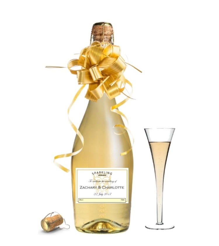 Personalised Non Alcoholic Sparkling Wine