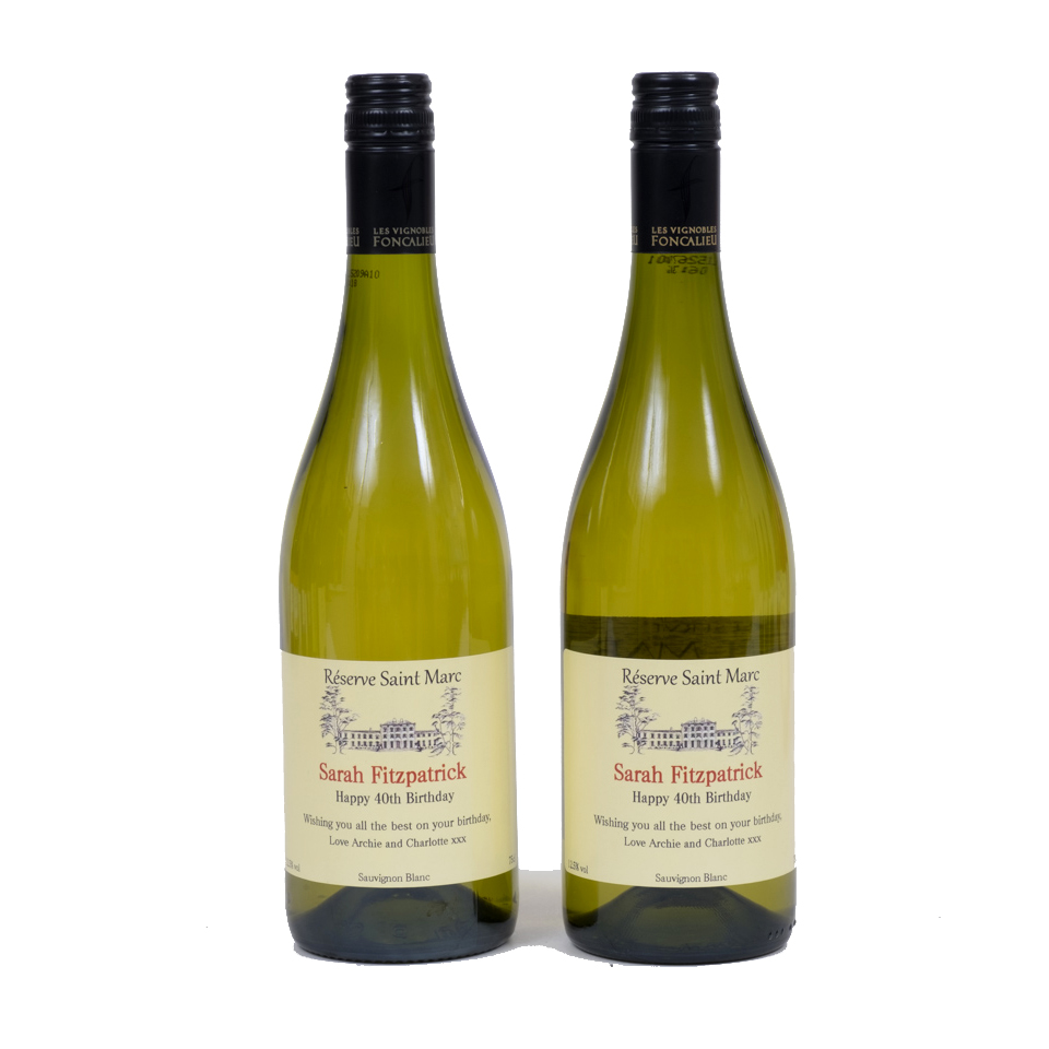 2 Bottles Of Personalised White Wine - South Of France