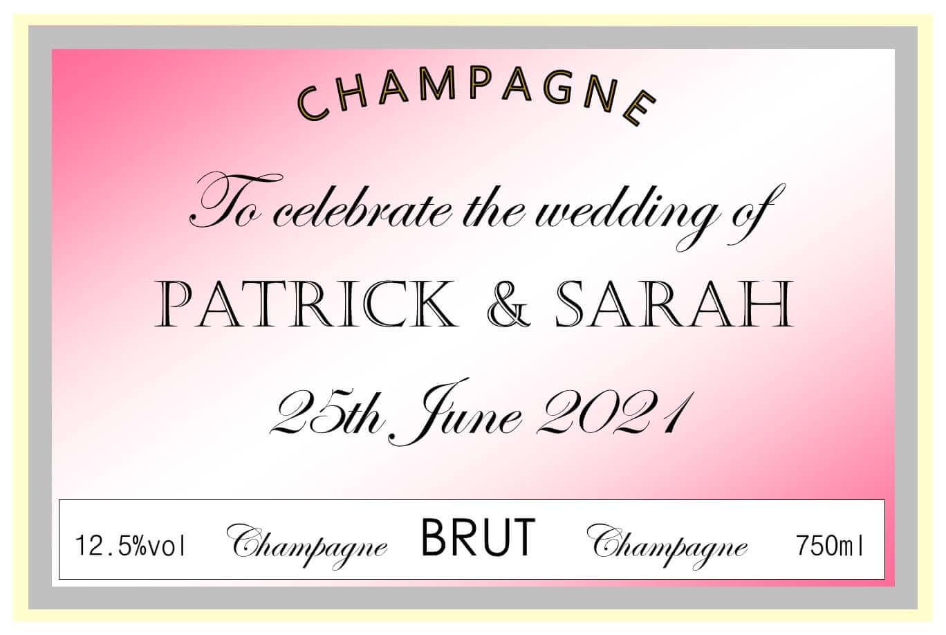 champagne wedding pink patrick sarah