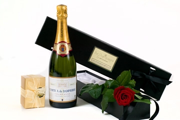 fresh-red-single-rose-and-champagne