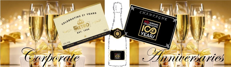 corporate anniversary champagne banner