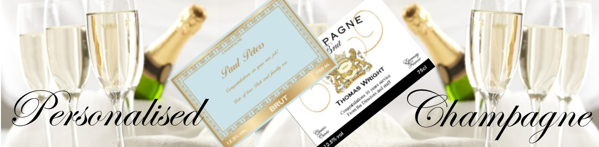 Personalised-champagne-banner