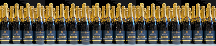 promotional champagne banner