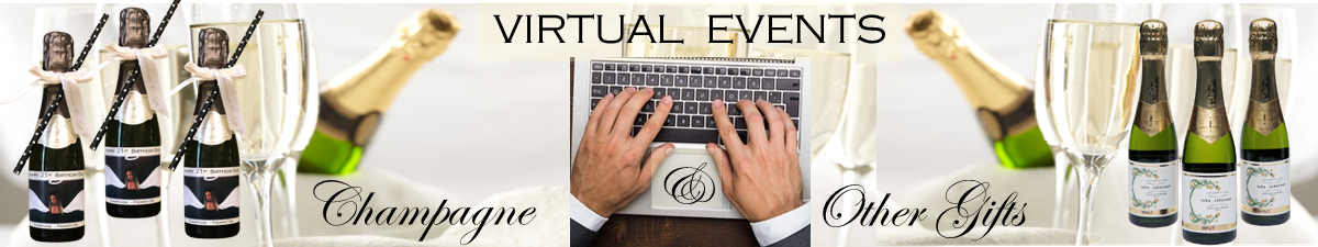 champagne for virtual events banner