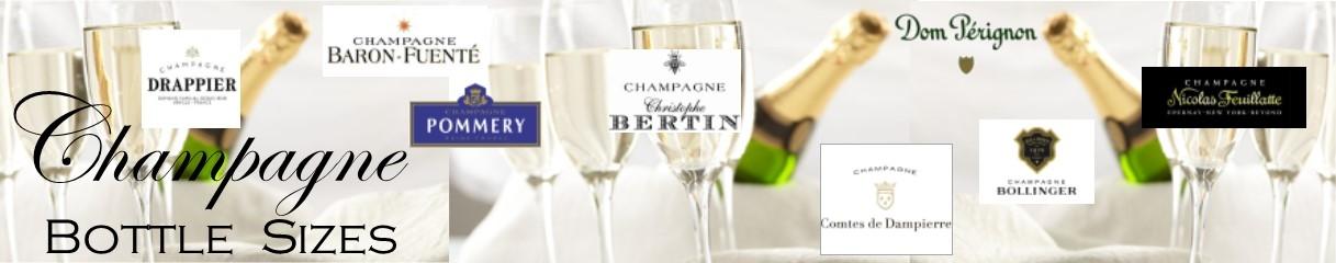 Champagne bottles sizes banner