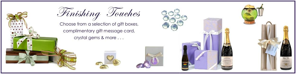 Champange gift finishing touches
