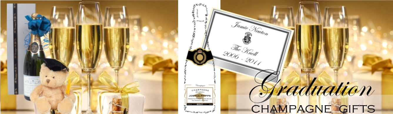 personalised champagne graduation banner