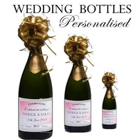 WEDDING CHAMPAGNE BOTTLE GIFTS