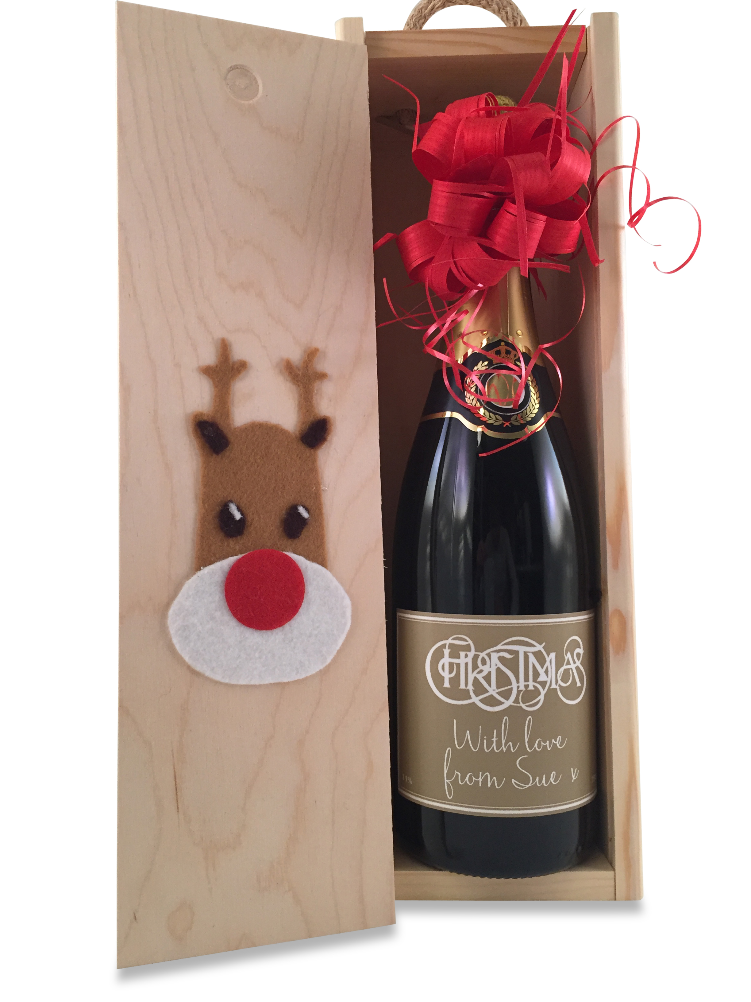 Rudolph-personalised-christmas-champagne