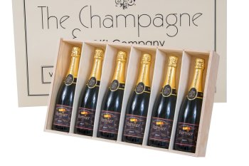 6-Branded-Champagne-Bottles-in-wooden-presentation-box