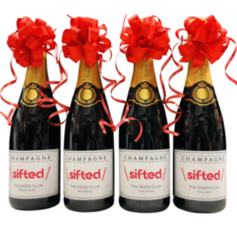 corporate promotional champagne bottles