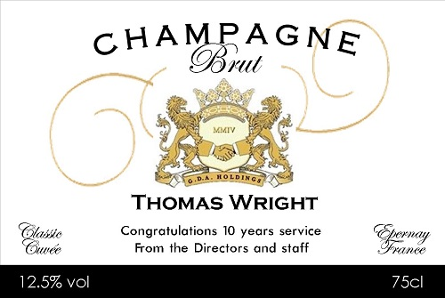 business-champagne-label
