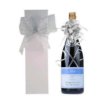 Personalised Prosecco Gift with Crystals