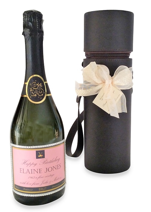 personalised-prosecco-with-crystals-beautifully=presented-with-box-and-bow
