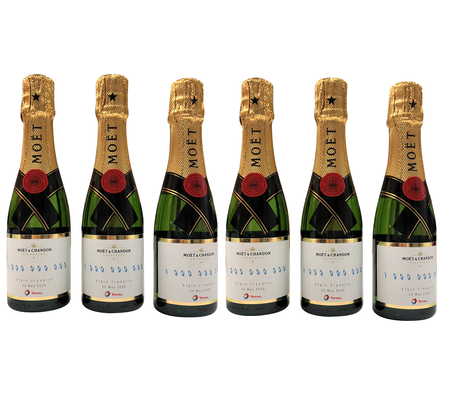 Branded-mini-champagne-bottles-for-an-event