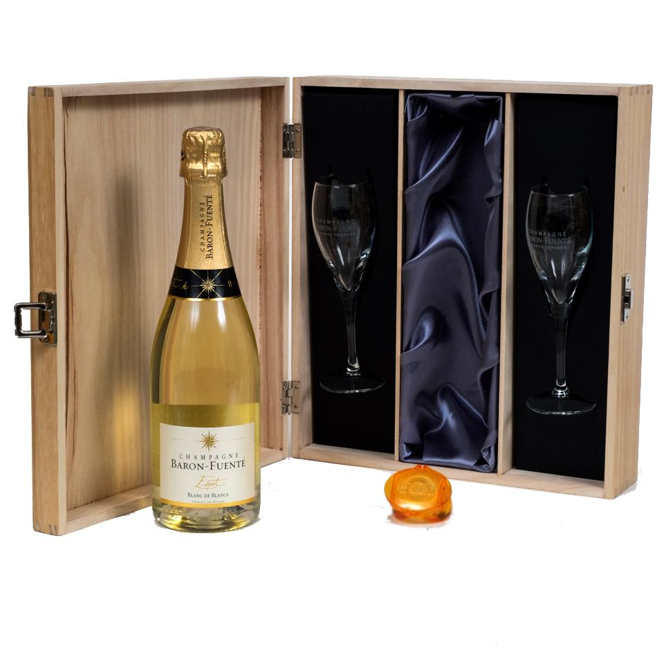 personalised-Champagne-blanc-de-blanc-gift-set