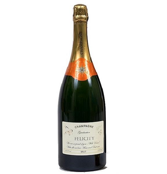 graduation personalised champagne magnum