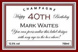 Personalised-champagne-label-40th-birthday-celebration
