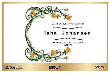 fashion event corporate champagne label