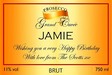 Orange-Gold-birthday-personalised-prosecco-label