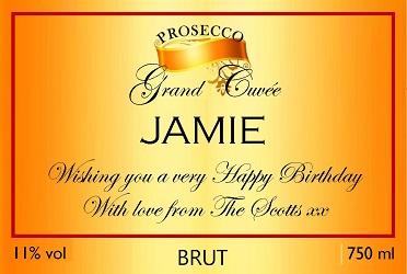 Orange-Gold-birthday-personalised-prosecco-label