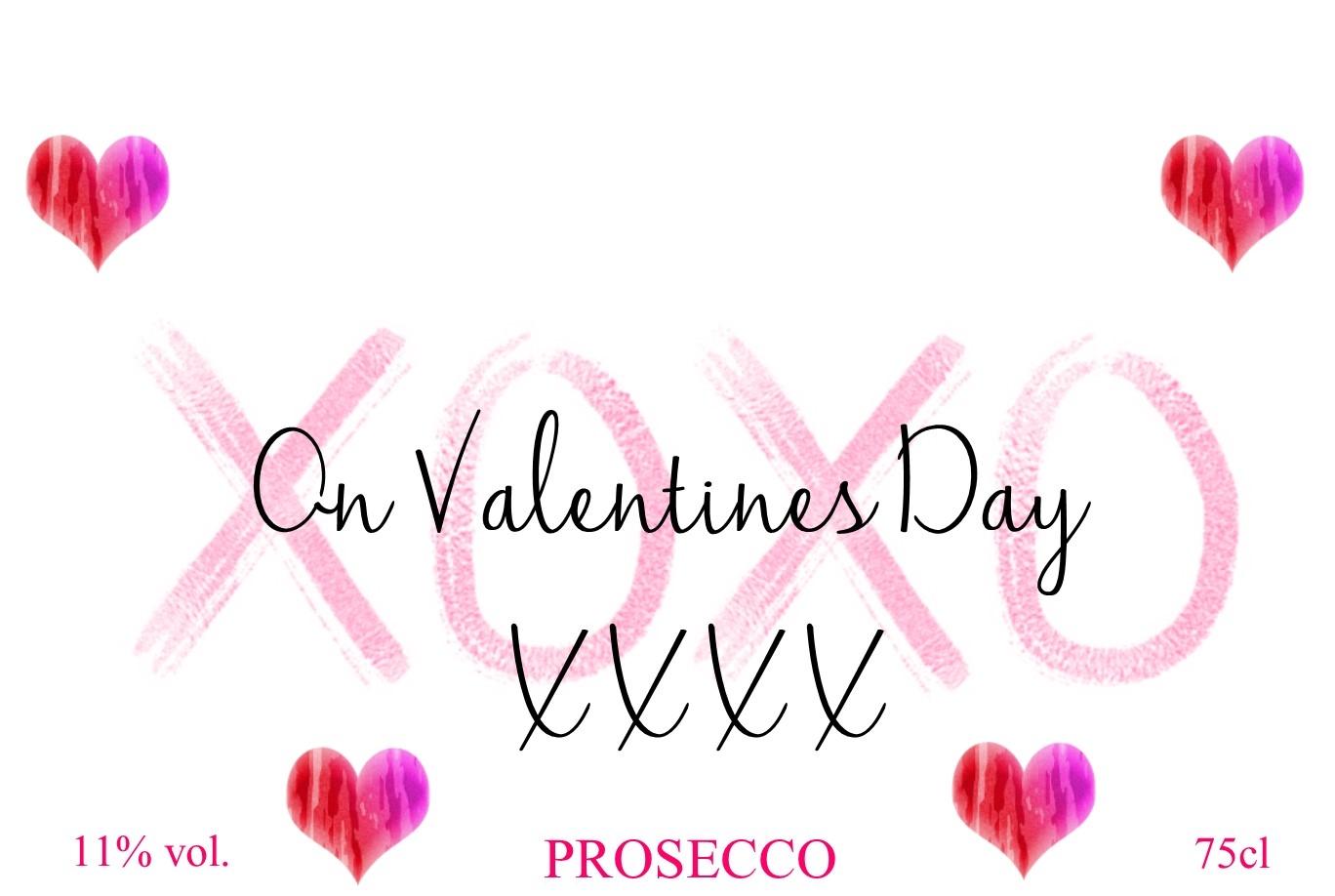 heart emojipersonalised prosecco label valentines