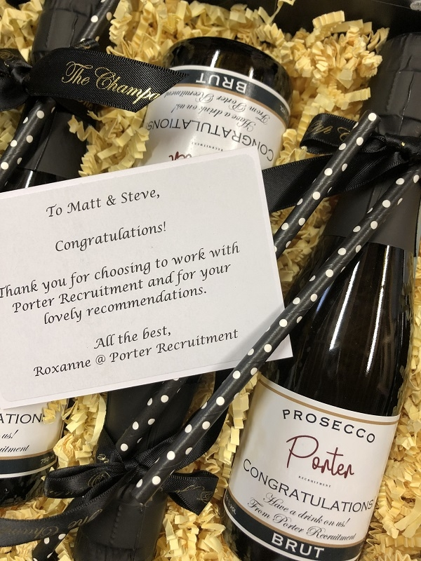 personalised-Corporate-Champagne-bottles-with-message-card