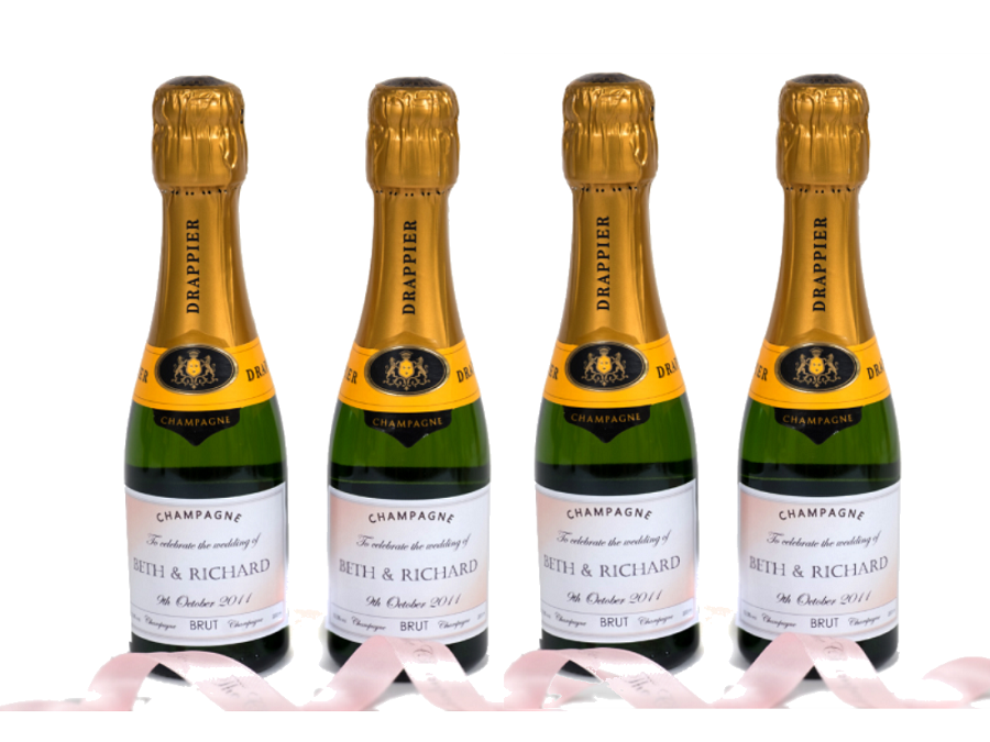 personalised-mini-champagne-for-wedding-pink-bow