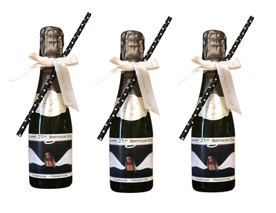 personalised-mini-champagne-decorated-with-bows-and-straws