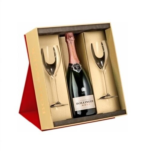 bollinger champagne and flute gift set