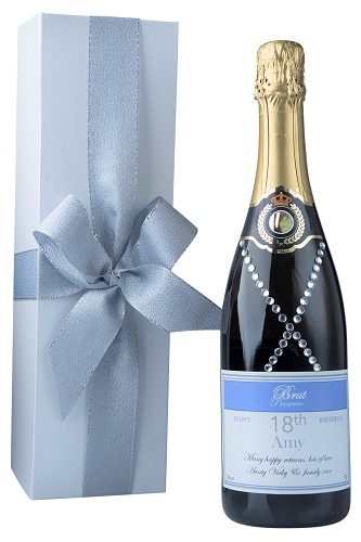 personalised-prosecco-decorated-with crystal-gems-in-white-box