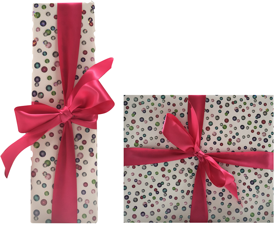 luxury gift wrapping bottle and box