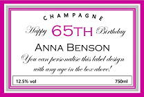 65th-birthday-personalised-champagne-label