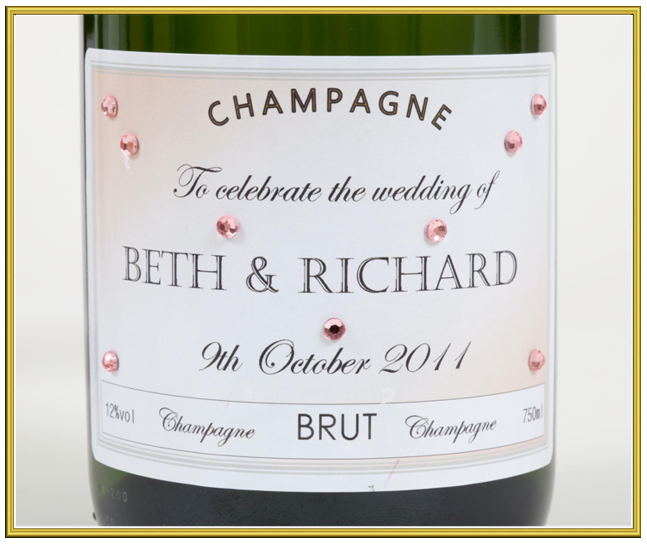 personalised champagne magnums