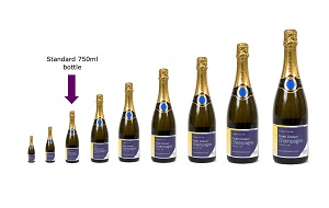 range-of-champagne-bottle-sizes