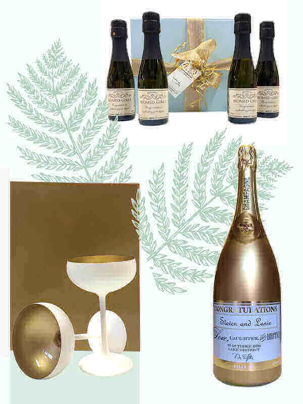Personalised Champaggne Gifts for Wedding
