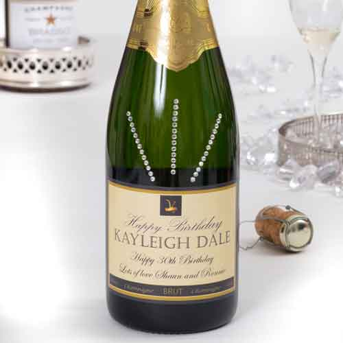 personalised-Champagne-hand-prepared-with-crystal gems