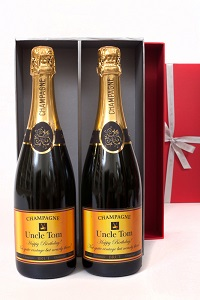 Personalised-double-champagne-in-red-presentation-box
