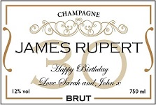 Personalised-gold-and-white-30th-champagne-label