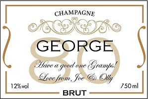 Personalised-white-and-gold-80th-champagne-label
