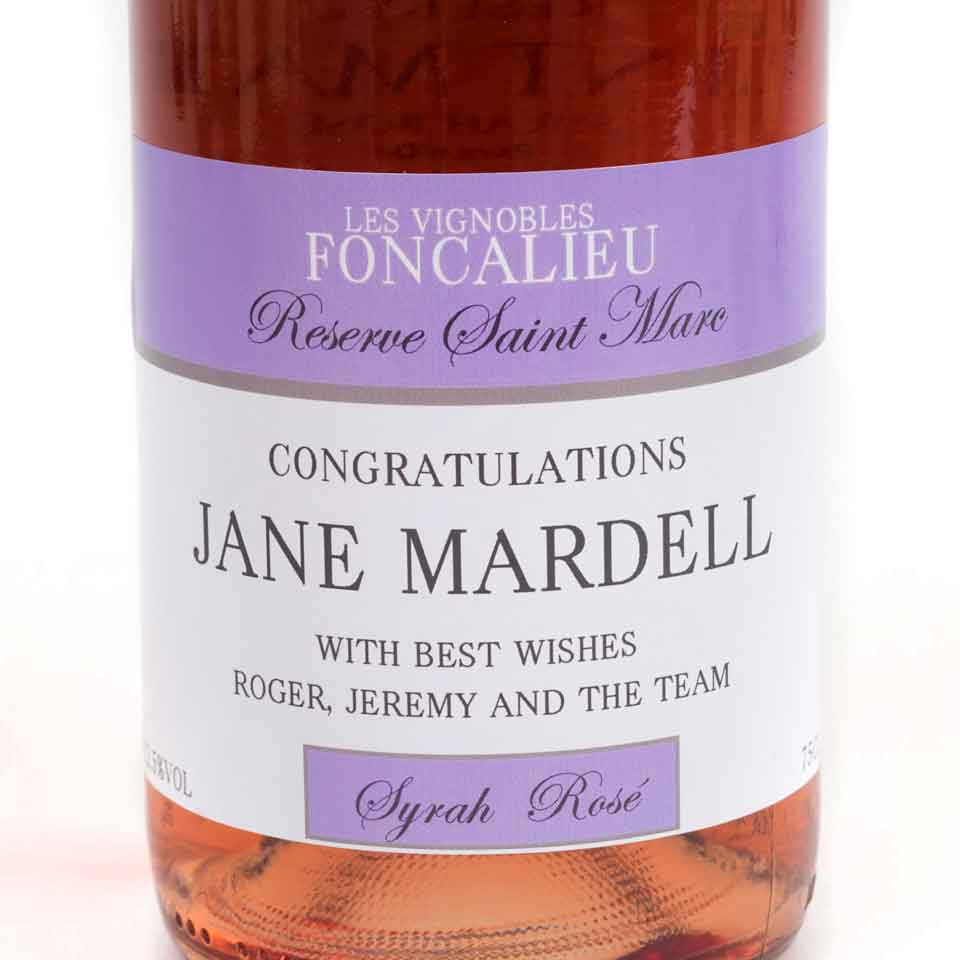 Personalised Champagne - Rosé