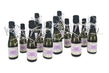 personalised-miniature-prosecco-bottles-with-flurry-of-ribbon