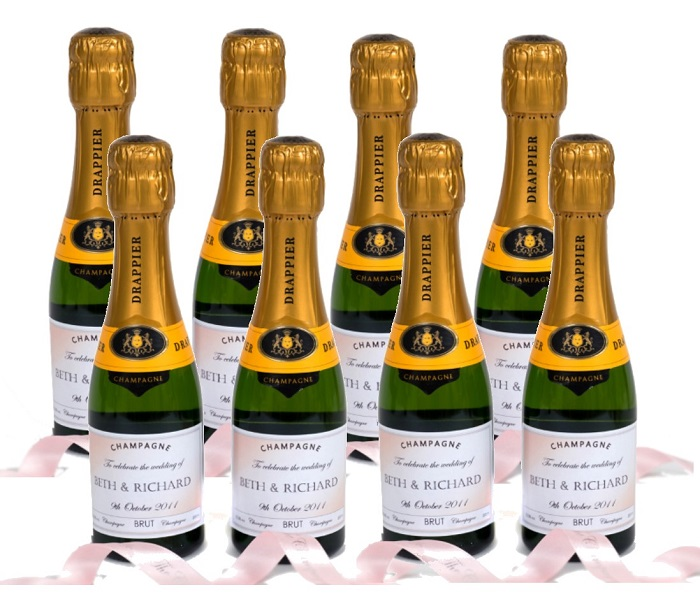 customised-miniature-champagne-bottles-for-wedding