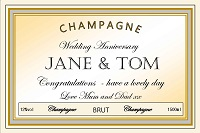 Create your own personalised wedding anniversary Champagne